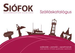 Szálláskatalógus Siófok 2014