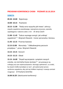 Program konferencji w IH PAN