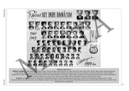 1961-1965 Tablók könyve 30 1964/65. tanév, IV. A