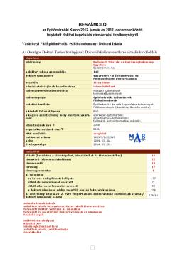2013 - Tartószerkezetek Mechanikája Tanszék