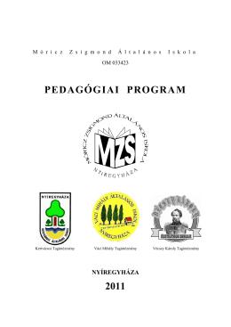 Pedagógiai Program - Móricz Zsigmond Általános Iskola Vécsey