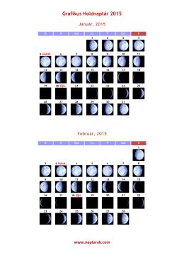 Grafikus Holdnaptár 2015