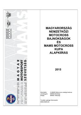 MX OB és Kupa Alapkiírás_2015