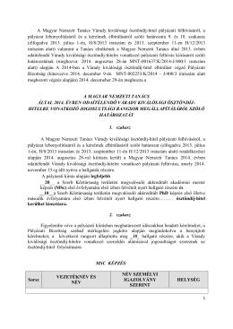 A Magyar Nemzeti Tanács Várady kiválósági ösztöndíj