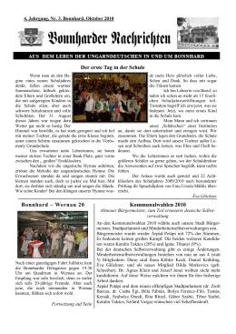 Bonnharder Nachrichten 4. Jahrgang, Nr. 3 Bonnhard