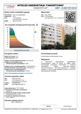 HITELES ENERGETIKAI TANÚSÍTVÁNY HET- 00077302