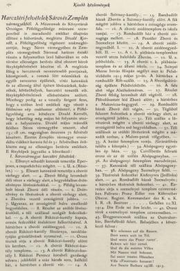 Tíarcztérifelvételek Sáros és Zemplén