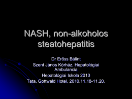 NASH, non-alkoholos steatohepatitis