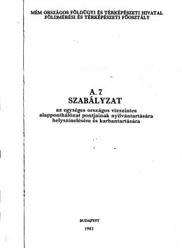 SZABALYZAT
