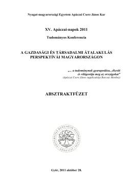 absztraktfüzet - NYME Apáczai Csere János Kar