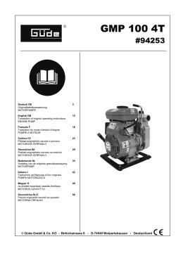 GMP 100 4T - Güde GmbH