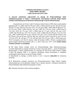 UCHWAŁA NR VIII/ 47 /2011 RADY MIEJSKIEJ W