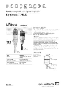 Liquiphant T FTL20 - E