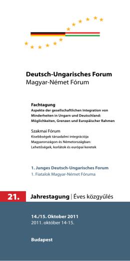 Deutsch-Ungarisches Forum Magyar-Német Fórum