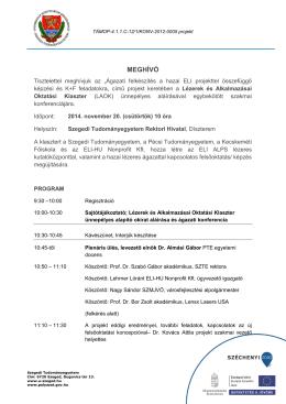 átadás átvételi - Szegedi Tudományegyetem