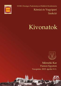 letölthető - XXXII. OTDK Kémiai és Vegyipari Szekció