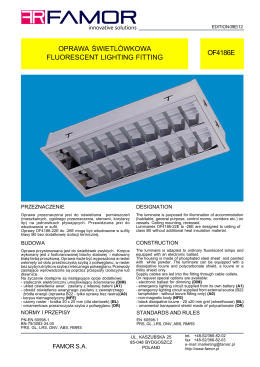 oprawa świetlówkowa fluorescent lighting fitting of4216l