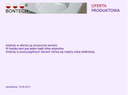 STUDIO KONTUR - CENNIK JESIEŃ 2013