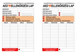 AED ellenőrző lista