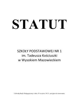Statut - Gimnazjum