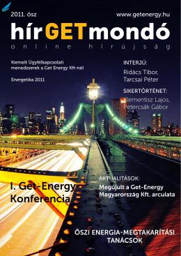 I. Get-Energy Konferencia - Get Energy Magyarország Kft.