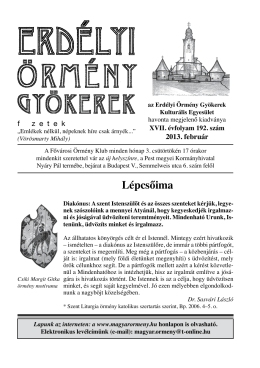 192 - Erdélyi Örmény Gyökerek Kulturális Egyesület