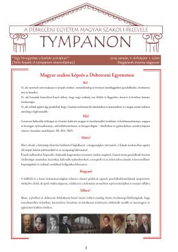 2014. január, V. évf. 1. szám - Magyar Irodalom