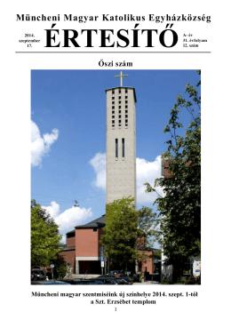 2014 ősz - Magyar Katolikus Misszió München