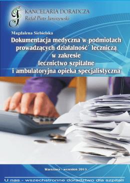 Informujemy rozpozrazdenie o dokumentacji medycznej w