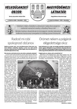 Veľkoúľanský obzor 2012 / 4. číslo