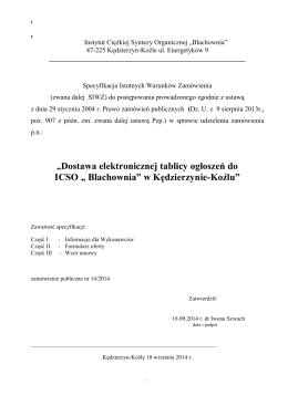 Tablica sterująca TS - Zakład Automatyki I Urządzeń Pomiarowych