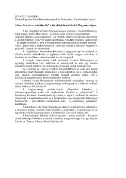 """""""zsidókérdés"""" a két világháború közötti Magyarországon"""
