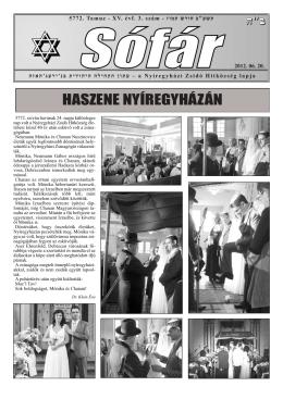 XV. évfolyam 3. szám (2012 június)