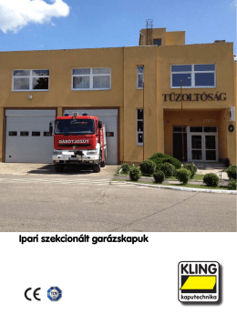 Kling ipari szekcionált garázskapuk