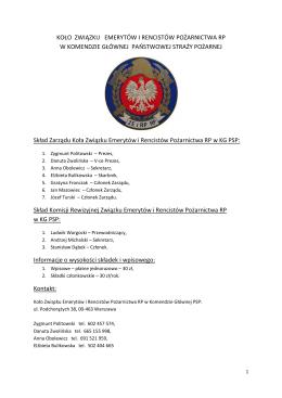 KOŁO ZWIĄZKU EMERYTÓW I RENCISTÓW POŻARNICTWA RP W