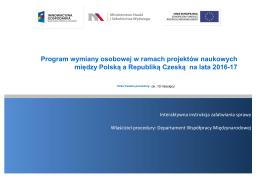 Program wymiany osobowej w ramach projektów naukowych