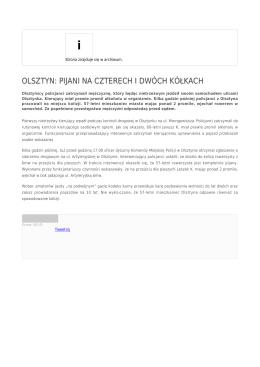 olsztyn: pijani na czterech i dwóch kółkach