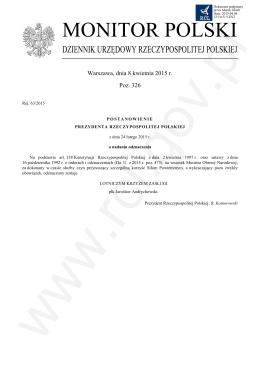 Pozycja 326 Post. - Rej. 63 - 2015