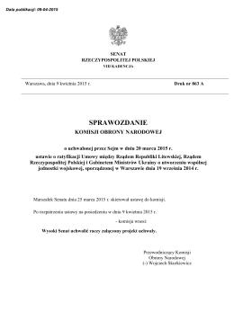 druk nr 863 A - Senat Rzeczypospolitej Polskiej