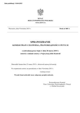druk nr 860 A - Senat Rzeczypospolitej Polskiej