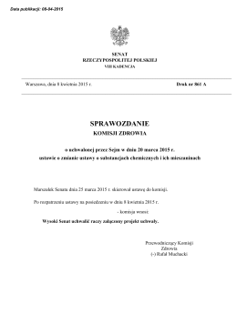 druk nr 861 A - Senat Rzeczypospolitej Polskiej