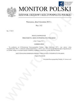 Pozycja 312 Post. - Rej. 37-2015