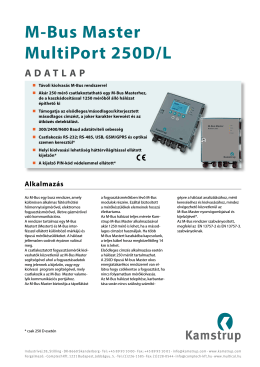 M-Bus Master MultiPort 250D/L ADATLAP
