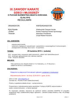 regulamin - GOTTSU Kościan