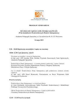 PROGRAM SEMINARIUM 14.05