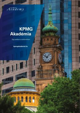 A KPMG Akadémiát bemutató brosúrát magyar
