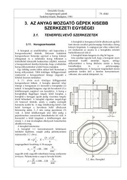 3. az anyag mozgató gépek kisebb szerkezeti egységei 3.1