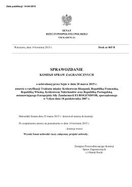 druk nr 865 B - Senat Rzeczypospolitej Polskiej