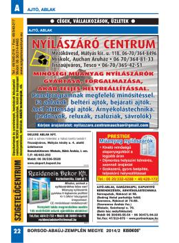 cégek, vállalkozások, üzletek - Miskolc és BAZ megye területén
