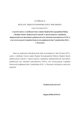 Uchwała Senatu RP do druku nr 862 - Senat Rzeczypospolitej Polskiej